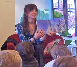 Doing a reading at the Eric Carle Museum