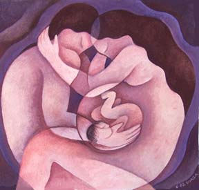 """Pregnant Sleep"", one of my most popular images, was painted when I was pregnant with my third child."