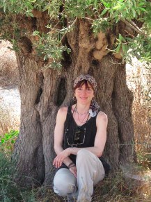 Here I am under an olive tree that is approximately 600-800 years old, in Tzipori, Israel, 2011.