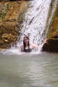 under the waterfall at Ein Gedi 72dpi