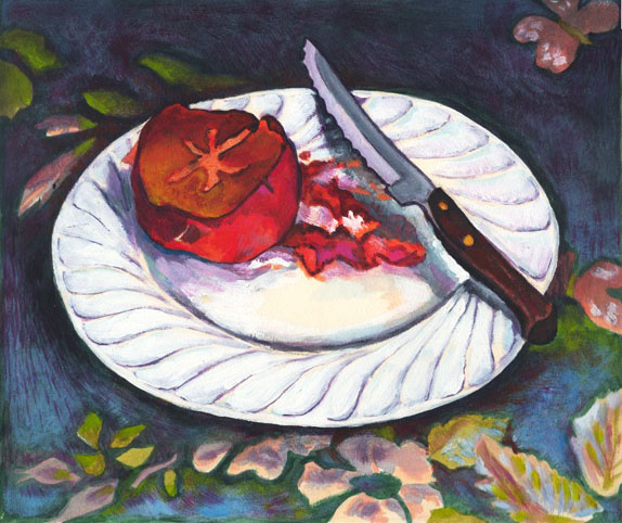 Persimmon on a Plate 72dpi