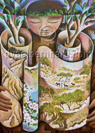 Shavu'ot – oil on canvas – © Durga Yael Bernhard