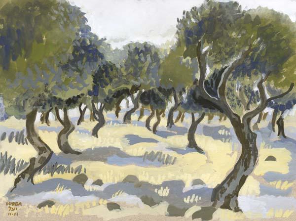 Study of Olive Grove, Kaditah