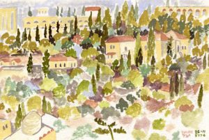 Study for View from Old City Ramparts -2