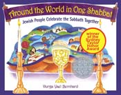 Around the World in One Shabbat<br>hardcover children's book